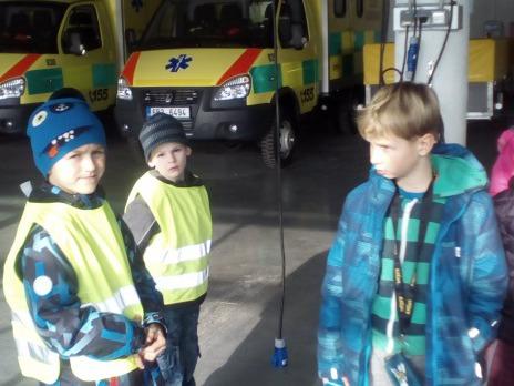 Exkurze II. C na Zdravotnické záchranné službě