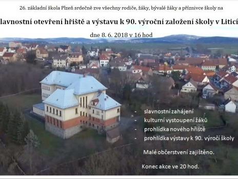 Slavnostní otevření hřiště a výstava k 90. výročí založení školy v Liticích