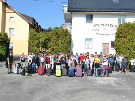 Šesté ročníky na adaptačním kurzu v Úborsku u Janovic nad Úhlavou
