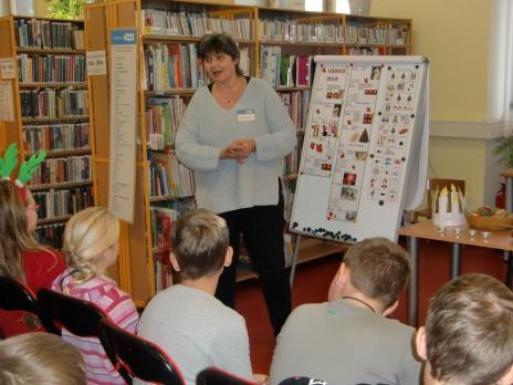 4. oddělení ŠD ve vánoční knihovně