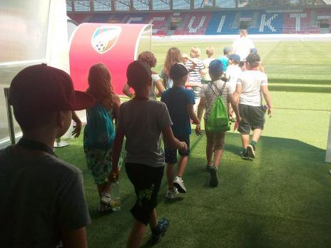 Prohlídka stadionu Viktorky
