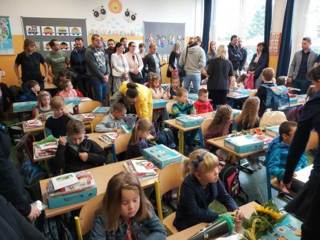 1. školní den - uvítání prvních tříd