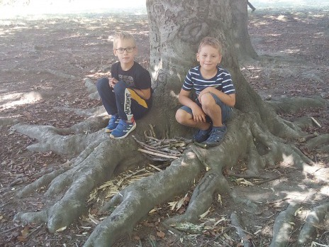 Prvňáčci v Borského parku