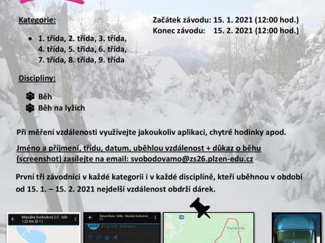 """Výzva pro všechny žáky naší školy v Plzni i v Liticích """"Měsíční závodpro zdraví"""""""