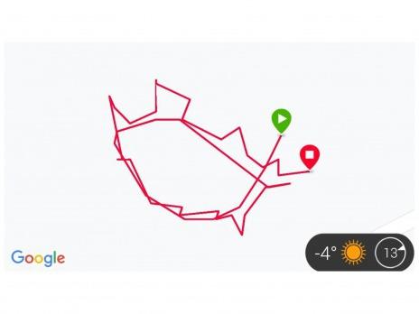Výzva do konce února - nakresli si GPS obrázek