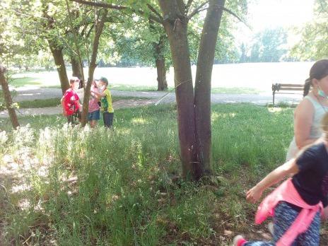 Stopovačka v Borském parku