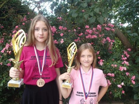 Dvě bronzové medaile z Mistrovství Evropské unie