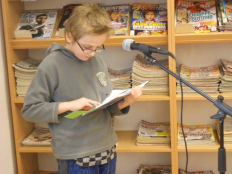 Knihofon ve čtenářské dílně - 3. C