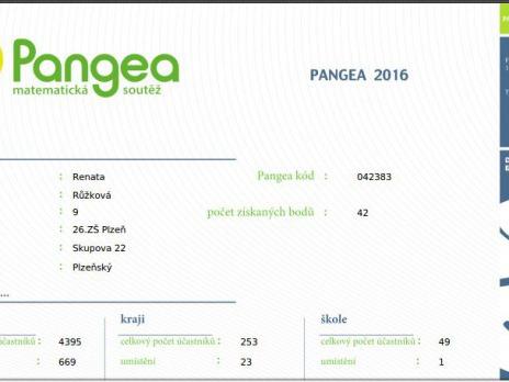 Pangea - výsledky