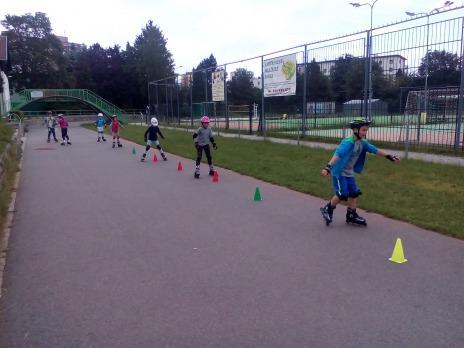 Tělocvik na inlinech